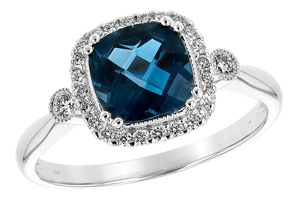 A208-10659: LDS RG 1.62 LONDON BLUE TOPAZ 1.78 TGW