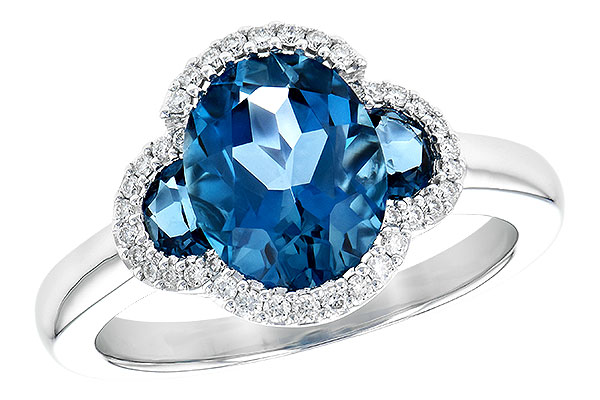 B209-06149: LDS RG 3.04 TW LONDON BLUE TOPAZ 3.20 TGW