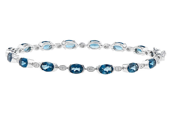 B209-06177: BRACELET 7.20 LONDON BLUE TOPAZ 7.36 TGW