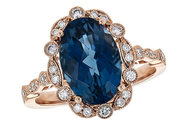 D209-02522: LDS RG 3.80 LONDON BLUE TOPAZ 4.06 TGW