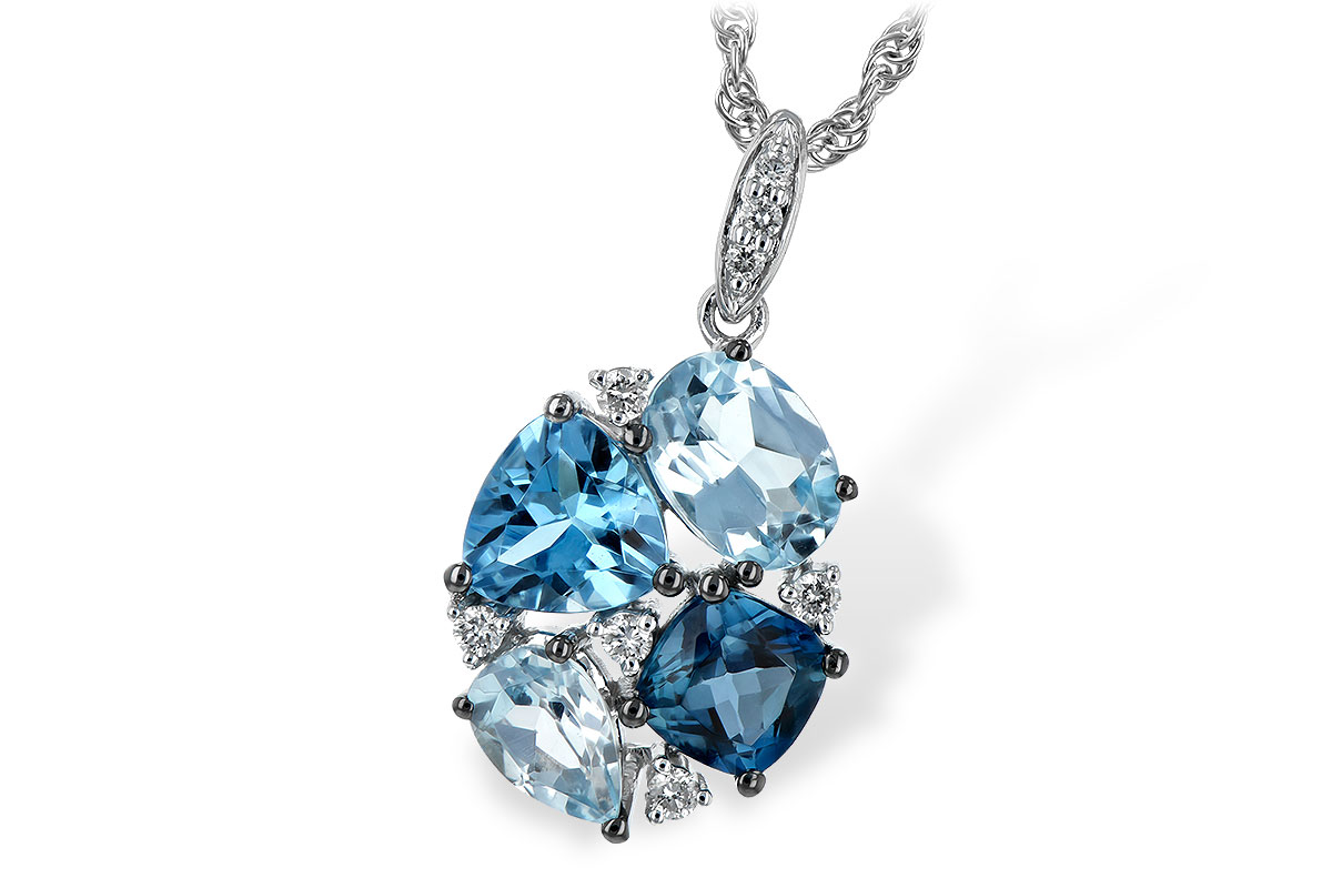 F208-10640: NECK 2.60 BLUE TOPAZ 2.70 TGW