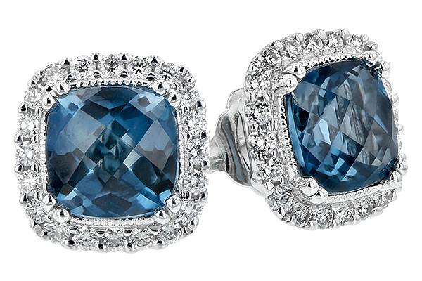 G208-10658: EARR 2.14 LONDON BLUE TOPAZ 2.40 TGW