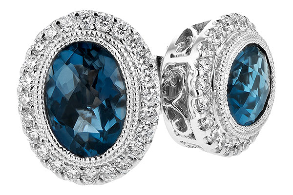 H208-10649: EARR 1.76 LONDON BLUE TOPAZ 2.01 TGW