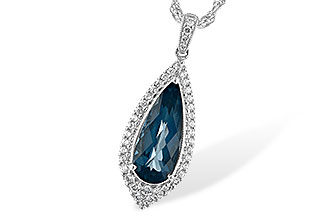 H208-12467: NECK 2.40 LONDON BLUE TOPAZ 2.65 TGW