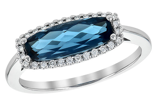 H209-05258: LDS RG 1.79 LONDON BLUE TOPAZ 1.90 TGW