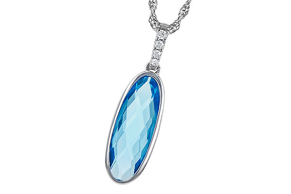 H291-76149: NECK 1.90 BLUE TOPAZ 1.93 TGW