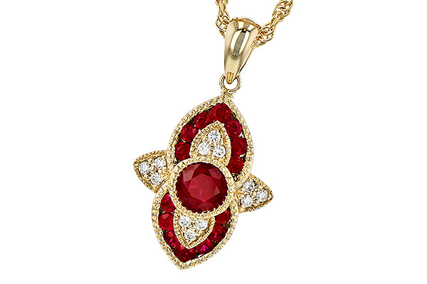 H291-76167: NECK .63 TW RUBY .70 TGW