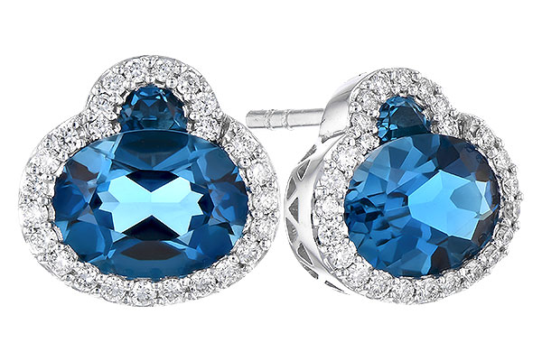 H291-79758: EARR 2.60 TW LONDON BLUE TOPAZ 2.81 TGW