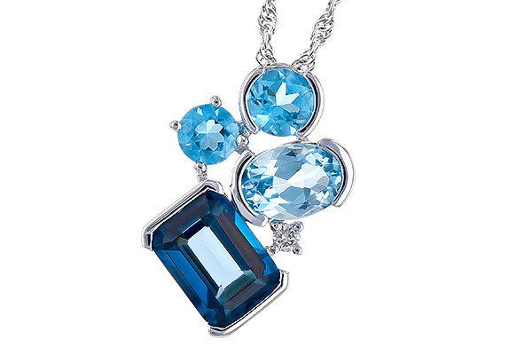 H291-79776: NECK 3.08 BLUE TOPAZ TW 3.11 TGW