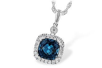 K208-10640: NECK 1.63 LONDON BLUE TOPAZ 1.80 TGW
