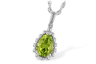 K208-13440: NECKLACE 1.30 CT PERIDOT
