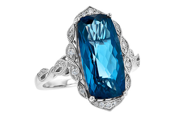 K209-01549: LDS RG 6.75 LONDON BLUE TOPAZ 6.90 TGW