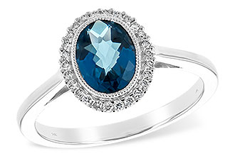 L208-10658: LDS RG 1.27 LONDON BLUE TOPAZ 1.42 TGW