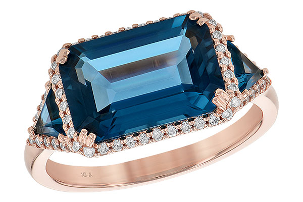 L209-02494: LDS RG 4.60 TW LONDON BLUE TOPAZ 4.82 TGW